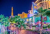 View of the strip in Las Vegas. The Las Vegas Strip is an approximately 4. 2-mile (6. 8 km) stretch of Las Vegas Boulevard in Clark County, Nevada.