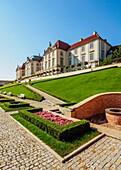 Poland, Masovian Voivodeship, Warsaw, Royal Castle eastern baroque facade.