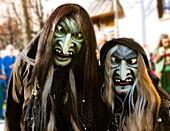 Swabian-Alemannic carnival 'Fasnet' in Buehl, South Germany-Baden Wuerttemberg, Germany, Europe.