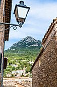 View at the village, Deià, Tramuntana Mountains, Mallorca, Spain