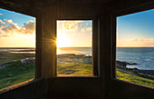 Fanad Head (Fánaid) lighthouse, County Donegal, Ulster region, Ireland, Europe. A beautiful windows on the Atlantic Ocean.