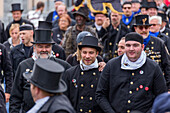 Vigezzo Valley, Santa Maria Maggiore, Verbania district, Piedmont, Italy. International Chimney sweepers gathering