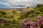 Quiraing mountain landscape of the Trotternish Ridge on the Isle of Skye, Inner Hebrides, Scotland, United Kingdom