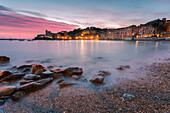 Bay of silence at dusk,Sestri Levante,Genova Province, Liguria,Italy
