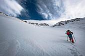 Alpinists toward Monte Amaro in Maiella, L'Aquila province, Abruzzo, Italy, Europe