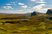 Quiraing's plateau,Quiraing,Trotternish peninsula,Isle of Skye,Scotland,Great Britain,Europe