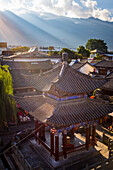 Top view of Chinese Traditional Tiled roofs in Dali, Yunnan Province, China, Asia, Asian, East Asia, Far East