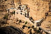 St. George Orthodox Monastery, or Monastery of St. George of Choziba, Wadi Qelt, Judean desert, West Bank, Palestine