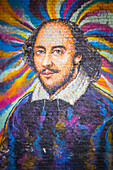Shakespeare painting, Bankside, London, United Kingdom.