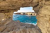 Cyprus, Ayia Napa, The sea caves at Cape Greco