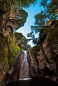 Sedini waterfalls, Sedini, sassari province, sardinia, italy, europe.