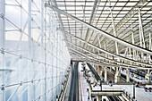 Charles de Gaulle Airport train station, Paris, France
