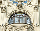 Latvia, Riga, close-up on a flat in the style of Art Nouveau (Mandatory credit: designed by Mikhail Eisenstein)