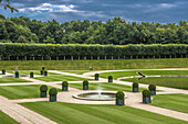 France, Centre-Val de Loire, Indre-et-Loire, the water garden of the Gardens of Villandry; Mandatory credit: Gardens of Villandry