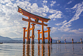 Japan, Hiroshima Province, Myajima Island, Utsukushima Shrine, the Gate