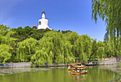 China, Beijin City, Beihai Lake, Beihai Park, White Dagoba