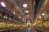 Hungary, Budapest, Great Synagogue, interior