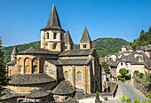 France, Aveyron, Conques, Sainte Foy basilica (labelled Most Beautiful Village in France)