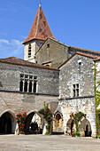 France, Nouvelle Aquitaine, Dordogne department (24), Monpazier, medieval village, (Most beautiful village of France)