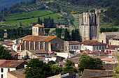 France, Occitanie, Aude (11), Lagrasse, medieval city and Sainte Marie d'Orbieu abbey
