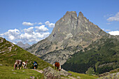 France, Nouvelle Aquitaine, Pyrenees Atlantiques (64), Bearn, Ossau valley (municipality of Laruns), pic du Midi d'Ossau (national park of Pyrenees ) and Ayous lakes