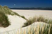 Sand Dune, Sky, Baltrum, North Sea, East Frisian Islands, East Frisia, Lower Saxony, Germany, Europe