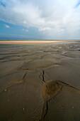 Wadden Sea, Sandbar, Sky, Baltrum, North Sea, East Frisian Islands, East Frisia, Lower Saxony, Germany, Europe