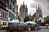 At Cathedral place, Erfurt, Thuringia, Eastgermany, Germany