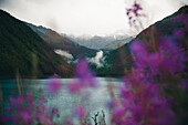 Vernagt reservoir in misty mood, E5, Alpenüberquerung, 6th stage, Vent,Niederjochbach, Similaun hut, Schnalstal, Vernagt reservoir, Meran