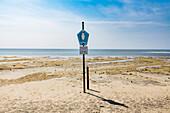Information sign for the National Park, Wangerooge, East Frisia, Lower Saxony, Germany