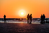 Party at sunset, Wangerooge, East Frisia, Lower Saxony, Germany