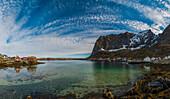 panoramic view of Reine, Lofoten Islands, Norway