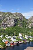 View of Ana-Sira, Rogaland, Vestlandet, Southern Norway, Norway, Scandinavia, Northern Europe, Europe
