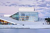 New opera house of the norwegian opera in Oslo, Østlandet, Eastern norway, Norway, Scandinavia, Northern Europe, Europe