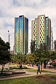 colourful skyscrapers in centre of capital Bogota, Departmento Cundinamarca, Colombia, Southamerica