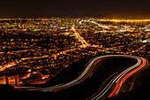 San Francisco at night, California, USA