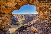 Arch above Bighorn Canyon, Montana, USA