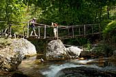 Wanderung durch die Orfento Schlucht im Majella Nationalpark, Majella Nationalpark, Abruzzen, Italien