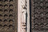 Entrance door, Portal, Church Santa Anastasia, Verona, Veneto, Italy