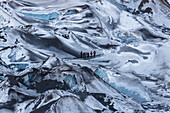 hiking the Solheimajokull glacier , southcoast,  Iceland