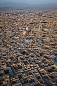 Old city of Yazd from above, Iran, Asia