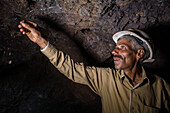 Turquoise mining, Iran, Asia