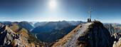 Peak of Mondscheinspitze,  Eastern Karwendel Range, Tyrol, Austria