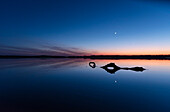 Seascape after the sunset in Germany at the blue hour