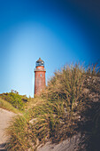 Lighthouse Darßer Ort at the Baltic Sea with vignetting