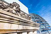 Decoration, glass dome, Reichstag, Bundestag, Berlin, Germany
