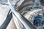 Visitors, glass dome, Reichstag, Bundestag, Berlin, Germany