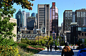 Downtown under the Mont-Royal, Montreal, Quebec, Canada