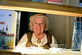 Old german treasurer lady, Tallinn, Estonia