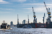 Dock, Elbphilharmonie, Elbe, harbour, Hamburg, Germany